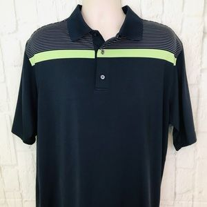 FootJoy men's XL navy blue stripe golf polo shirt